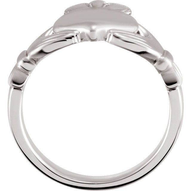 Sterling Silver 8.5 mm Claddagh Ring Size 7