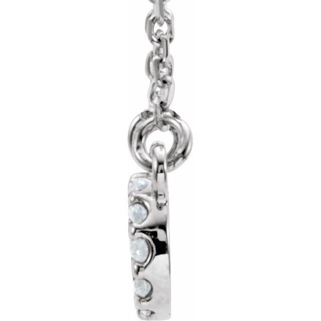 14K White .08 CTW Diamond Infinity-Inspired 16 1/2