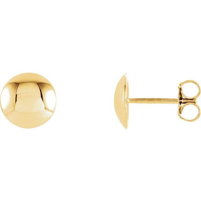 Convex Circle Earrings