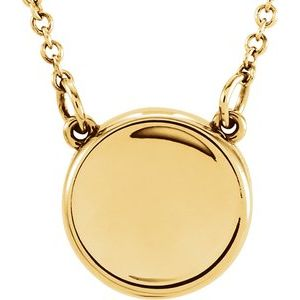 """14K Yellow Concave 18"""" Necklace"""