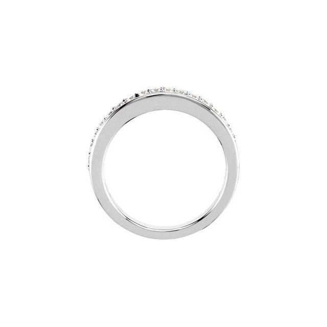 14K White 1/3 CTW Diamond Band for 4.5 mm Engagement Ring