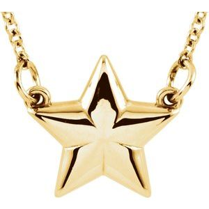 """14K Yellow Star 18"""" Necklace"""