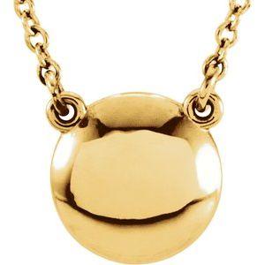 "14K Yellow Convex 18"" Necklace"