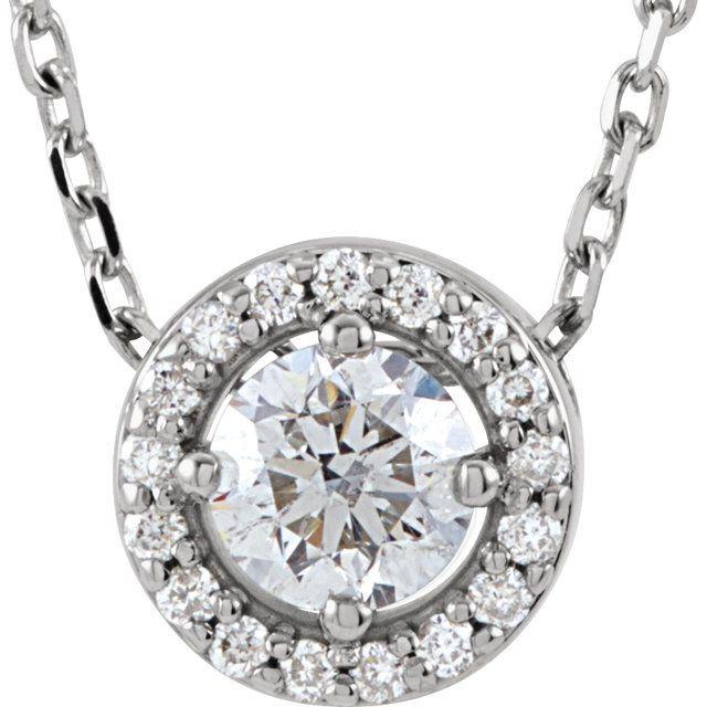 14K White 1/4 CTW Diamond Halo-Style 16