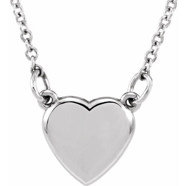 14K White Heart 18