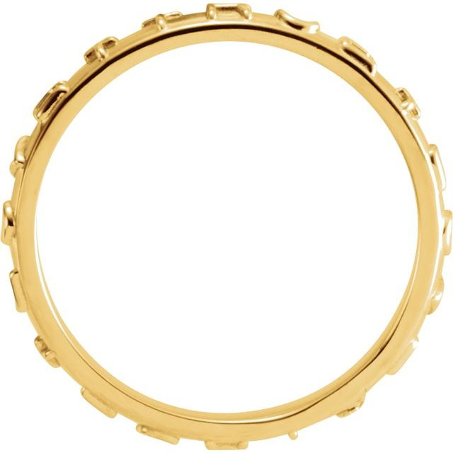 14K Yellow True Love Chastity Ring Size 6