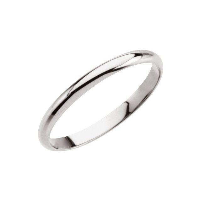 14K White Midi Ring Size 1