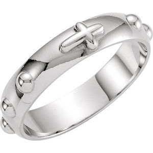 Sterling Silver Rosary Ring Size 5