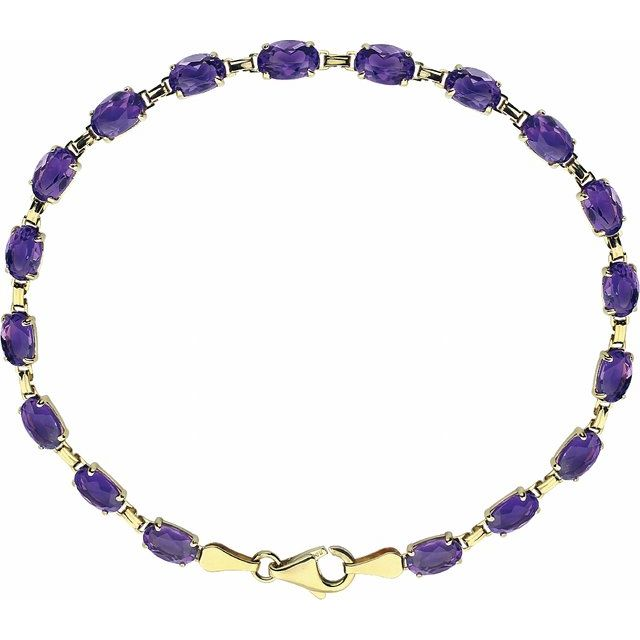 14K Yellow Amethyst 7.25