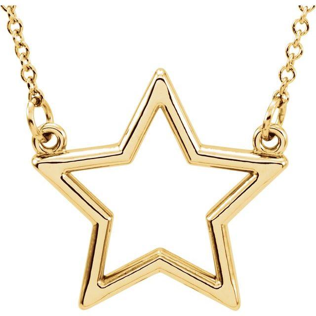 14K Yellow Star 16