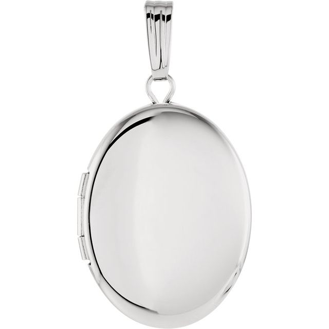 Sterling Silver 28.9x16 mm Oval Locket