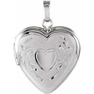 Sterling Silver 22.25x16 mm Heart Shape Locket