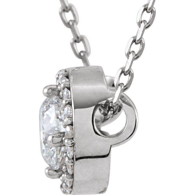 14K White 3/8 CTW Diamond Halo-Style 16