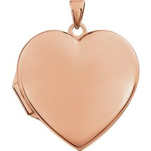 14K Rose Heart Locket