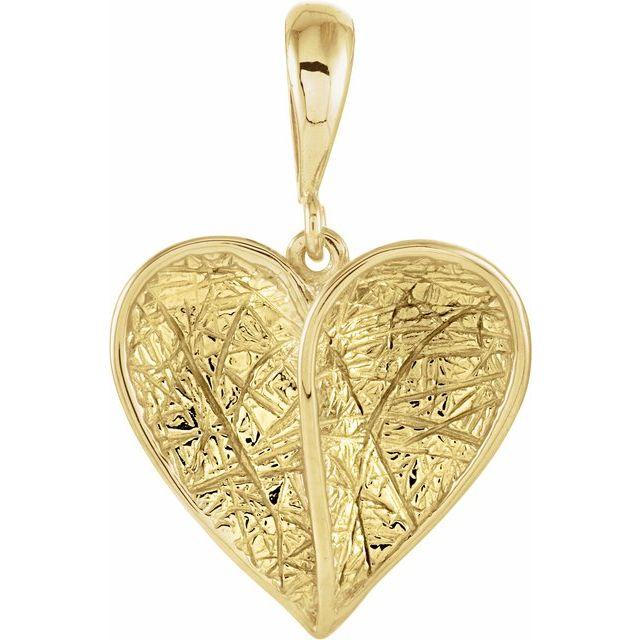 14K Yellow Heart Pendant