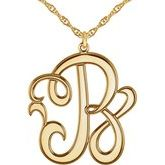 Single Letter Script Monogram Necklace