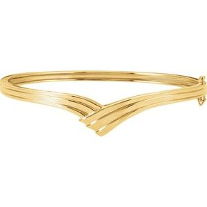 "14K Yellow Hinged Bangle 6 1/2"" Bracelet"