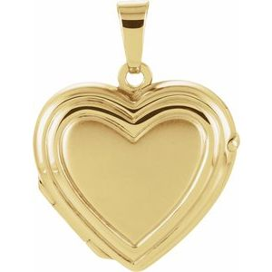 14K Yellow 17.9x17 mm Heart Locket