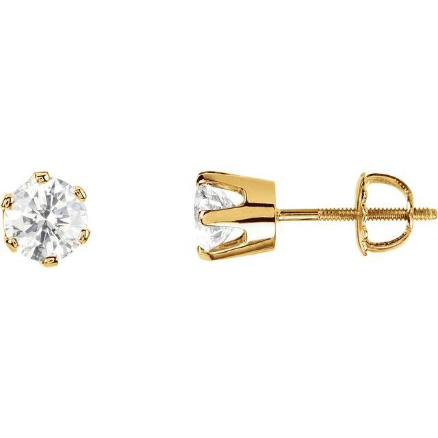 14K Yellow 1/5 CTW Diamond Earrings