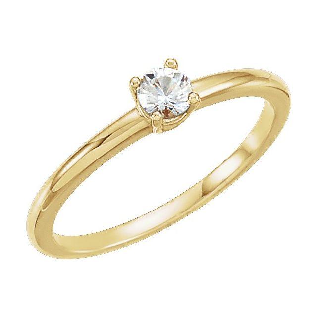 14K Yellow Sapphire