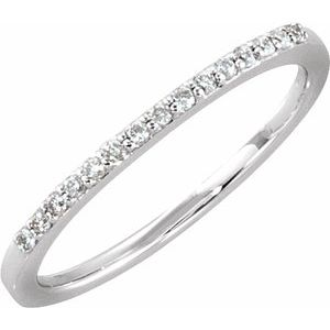 14K White 1/8 CTW Diamond Anniversary Band Size 6