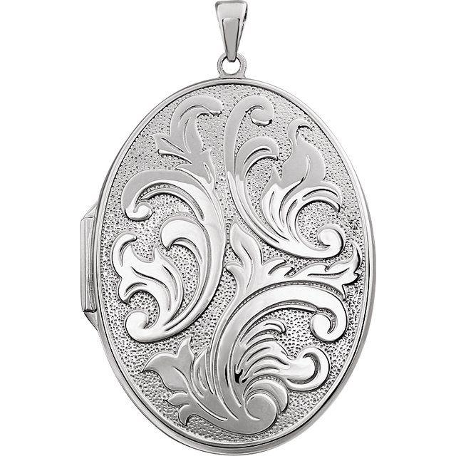 Sterling Silver Oval Locket