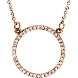 "14K Rose 1/6 CTW Diamond 16"" Necklace"