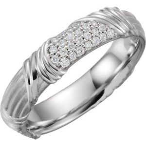 Platinum 1/4 CTW Diamond Sculptural-Inspired Band