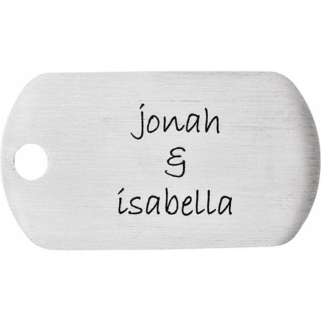 Stainless Steel 21x38 mm 20 Gauge Little Dude Engravable Dog Tag