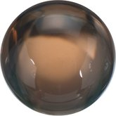 Round Genuine Cabochon Smoky Quartz