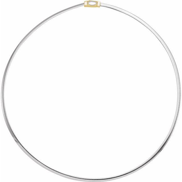 14K Yellow/White 3 mm Two-Tone Reversible Omega 16
