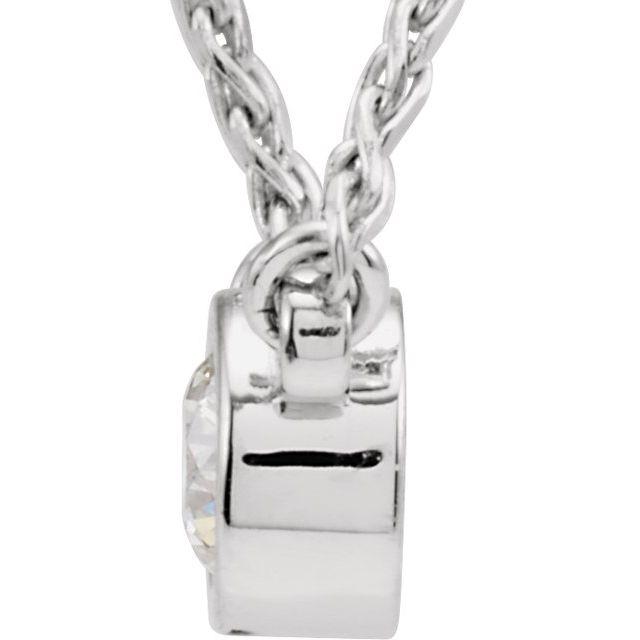 14K White 1/4 CTW Diamond Bezel-Set Solitaire 18