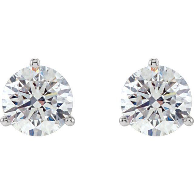 14K White 1/5 CTW Diamond Stud Earrings