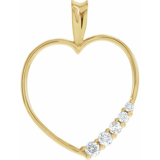 Journey Diamond Heart Pendant