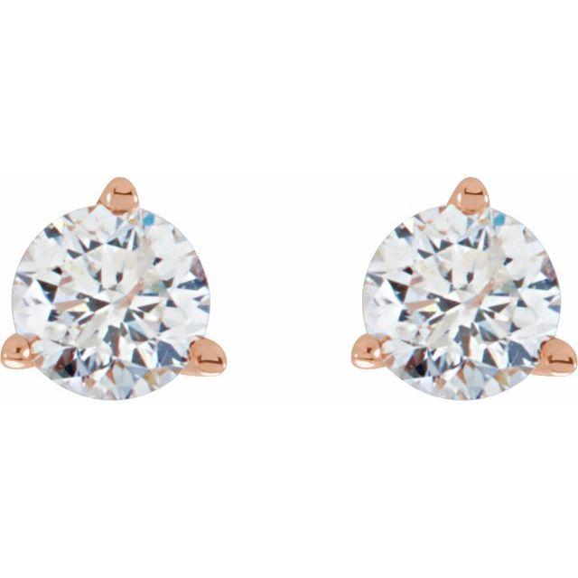14K Rose 1/3 CTW Diamond Stud Earrings