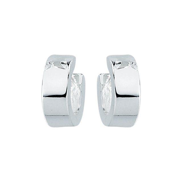 Sterling Silver 11.5 mm Hinged Earrings