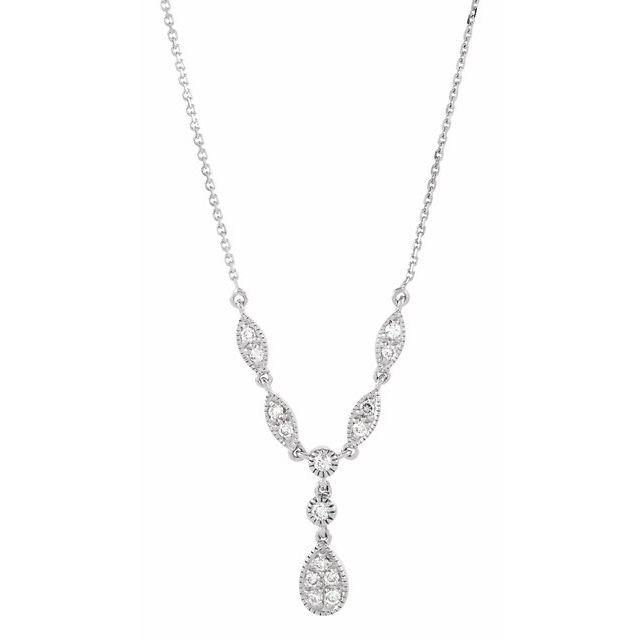 14K White 1/4 CTW Diamond