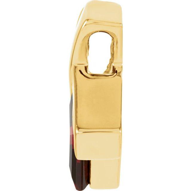 14K Yellow Mozambique Garnet Pendant