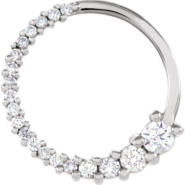14K White 1/5 CTW Diamond Circle Journey Pendant