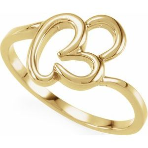 14K White Freeform Remount Ring