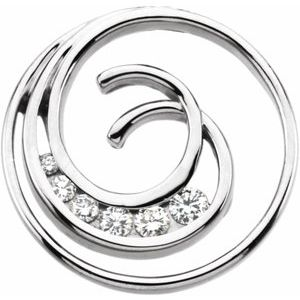 Journey Diamond Spiral Pendant