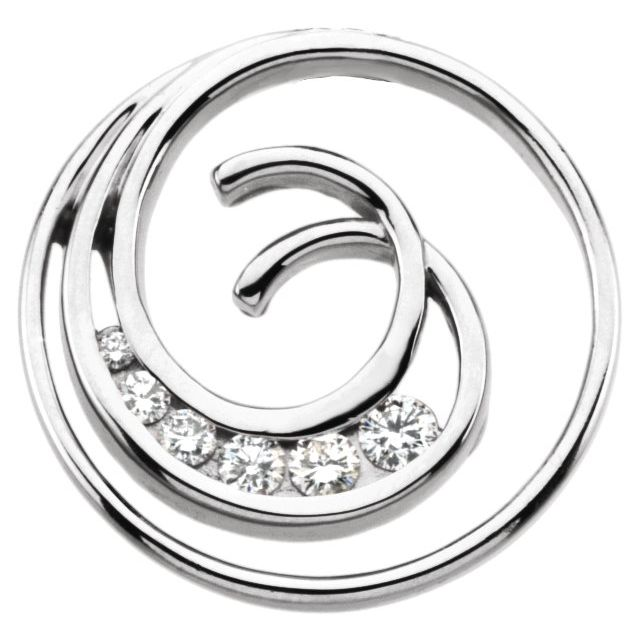 Journey Diamond Spiral Pendant