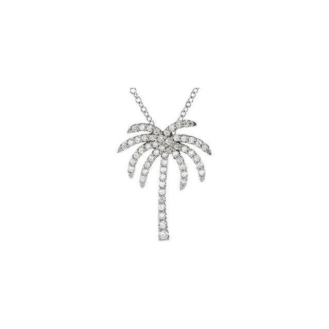 Platinum 1/3 CTW Diamond Palm Tree 16