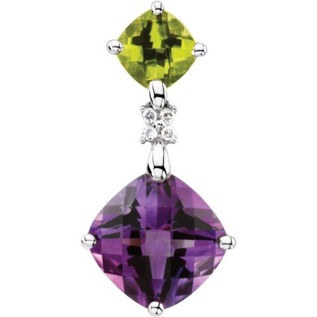 Multi-Gemstone & Diamond Pendant