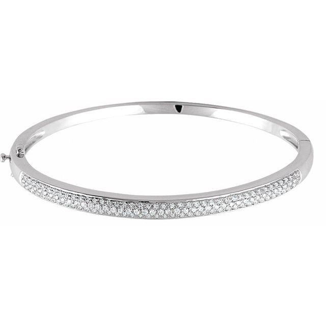 14K White 1 CTW Diamond Pave- Bracelet