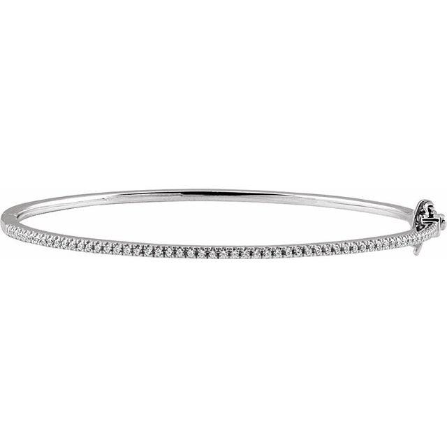 "14K White 1/2 CTW Diamond Pavé 7"" Bracelet"