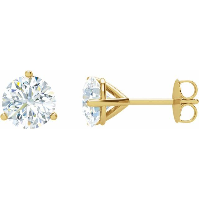14K Yellow 1 CTW Diamond Stud Earrings