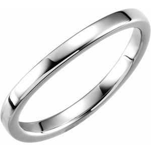 Platinum 1.65 mm Ladies Stackable Band Size 6