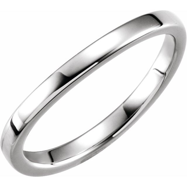 14K White 1.65 mm Ladies Stackable Band Size 7