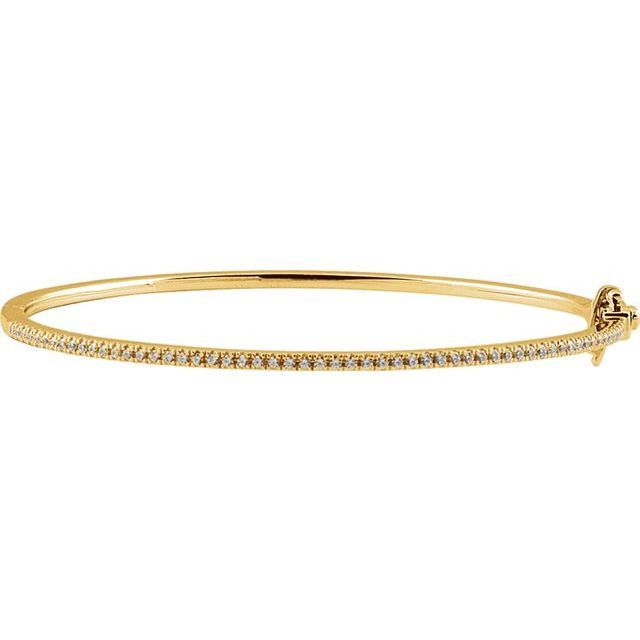 "14K Yellow 1/2 CTW Diamond Pavé- 7"" Bracelet"